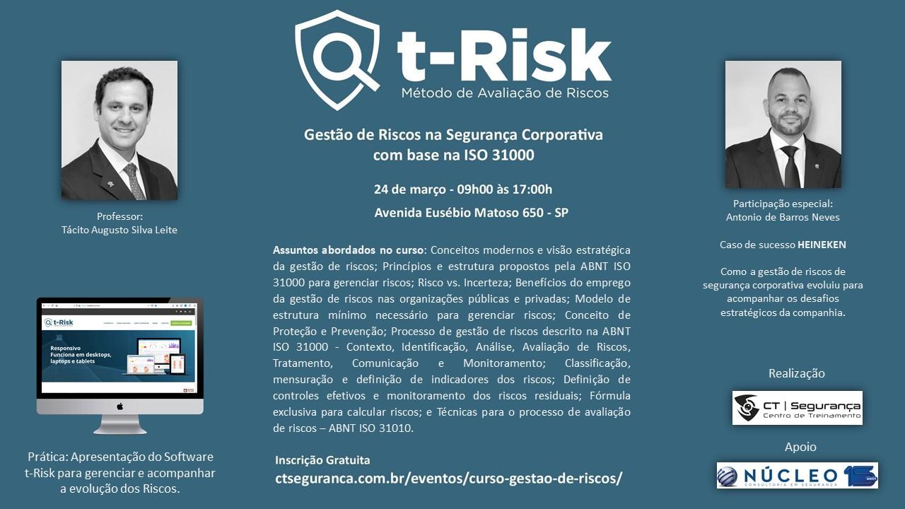 Curso Gratuito: Gestão de Riscos na Segurança Corporativa com base na ISO 31000